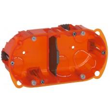Boîte multimatériaux Batibox - 2 postes - 4/5 modules - vert/horiz - prof. 40