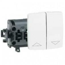 Interrupteur pour volets roulants appareillage saillie composable - blanc