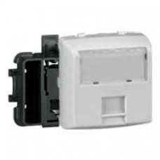 Prise RJ 45 Cat.6 FTP 9 contacts appareillage saillie composable - blanc