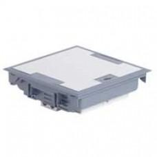 Boîte de sol haut. 75-105 - 6x2P+T (3 détromp) + 3xRJ 45 - 18 modules - couv inox