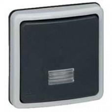 Interrupteur va-et-vient bipolaire à voyant Plexo 66 composable gris - IP66/IK08