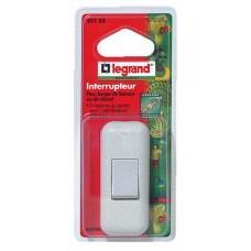 Interrupteur à bascule touche de couleur - 2 A - fil souple - blanc (blister)