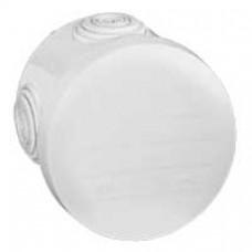Boîte ronde - Ø 70/h 45 étanche Plexo blanc - embout (4) -IP55/IK07- 650°C