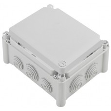Boîte rectangulaire 180x140x86 étanche Plexo gris - embout (10) -IP55/IK07- 750°C