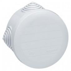 Boîte ronde Ø 60/h 40 étanche Plexo gris - embout gradins (4) -IP55/IK07- 650°C