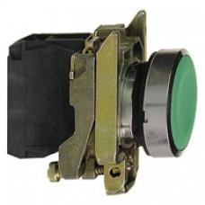 Bouton-poussoir vert Ø 22-à impulsion affleurant-1F