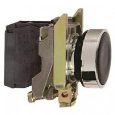 Bouton-poussoir noir Ø 22-à impulsion affleurant-1F