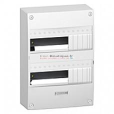 Tableau Schneider 13 modules 2 rangées configurable