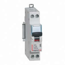 Disjoncteur DNX³ 4500 - vis/vis - U+N 230V~ 25A - 4,5kA - courbe C - départ