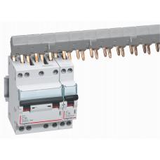 Disjoncteur DX³ 6000 -vis/vis- 4P- 400V~-16A-10kA-courbeC-départ-peigne HX³ opti 4P Legrand