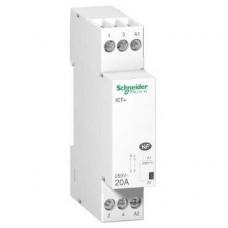 Contacteur silencieux 1P 20A 230VCA, livré avec 1 intercalaire