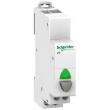 Acti9, iPB bouton-poussoir lumineux 1 NO gris + voyant vert 12...48VCA/VCC