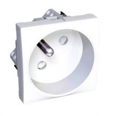 Altira - prise de courant 2P+T Rotoclip - blanc polaire