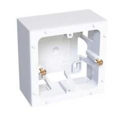 Boîte saillie 1 poste - 40 mm - antimicrobien