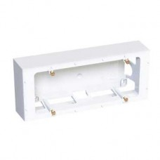 Boîte saillie 3 postes - 40 mm - antimicrobien