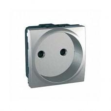 Prise de courant 2P obturateurs Europe 2M Aluminium