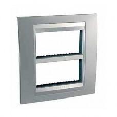 Plaque avec support de fixation inclus 2x4 m horizontal Aluminium