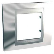 Plaque 2M simple Chrome brillant Aluminium