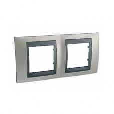 Plaque 4M double horizontal Nickel mat Graphite
