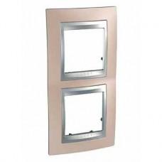 Plaque 4M double vertical Cuivre d'onyx Aluminium