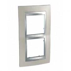 Plaque 4M double vertical nickel mat/Aluminium