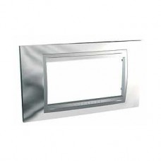 Plaque 4M simple Chrome brillant Aluminium