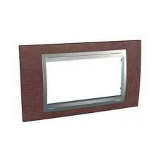 Plaque 4M simple Tabac Aluminium