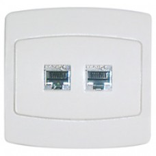 Prise RJ45 cat 6 blindée double FTP