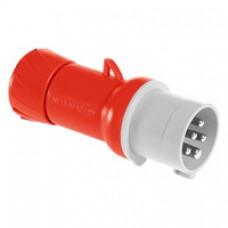 Fiche mobile industrielle-droite-16A-3P+N+T-380..415V CA-IP 44