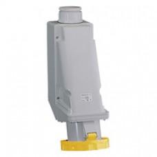 Socle de prise industrielle-63A-3P+T-100..130V CA-IP 67