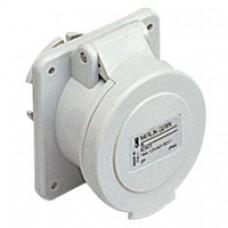 Socle de prise industrielle-droite-32A-2P-40..50V CA-IP 44