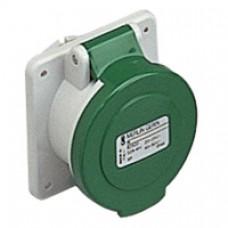 Socle de prise industrielle-droite-16A-3P-20..25V CA-IP 44