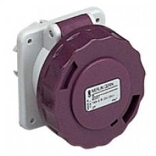 Socle de prise industrielle-droite-32A-3P-20..25V CA-IP 67