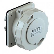 Socle de prise industrielle-droite-32A-2P-40..50V CA-IP 67