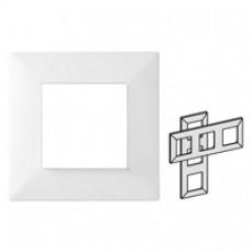 Plaque Classic 3 postes horizontale/verticale blanc