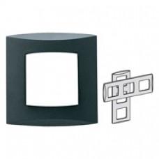 Plaque Design triple horiz./vert Entraxe 71mm anthracite