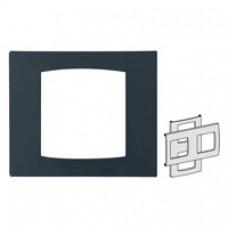 Pblaque anthracite pour barrettes double hor/ver 71 mm