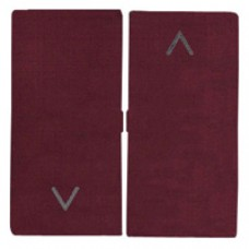 Façade interrupteur volets roulants satin bordeaux