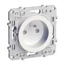Prise de courant 2P+T blanc à vis connexion à vis