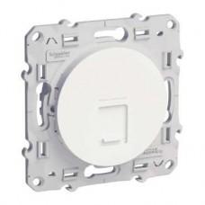 Prise RJ45 blanc grade 1 (téléphone + informatique) cat. 6 UTP à vis