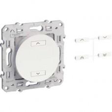 Emetteur RF blanc 2 boutons (spécial volets-roulants)