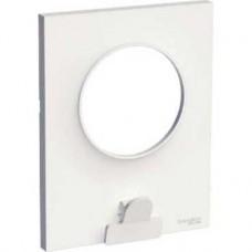Plaque blanc avec pince multi-usage 1 poste