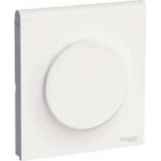 Plaque blanc avec couvercle intégré pour prise 1 poste