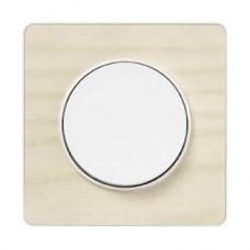 Plaque bois nordique avec liseré blanc 1 poste