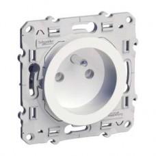 Prise de courant 2P+T blanc à griffes connexion à vis
