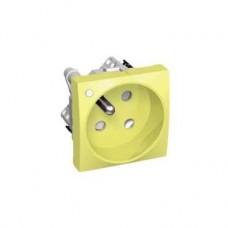 Prise 2P+T ROTO jaune lumineuse détrompage