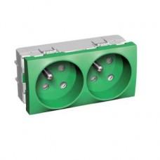 Bloc double 2P avec T vert