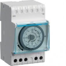 Interrupteur horaire 1 voie 7j 3M 6-24V + rés
