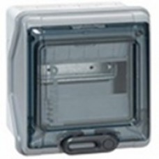 Coffret Plexo 8 modules avec embouts à perf. directe - IP 65 - IK 09 - Gris