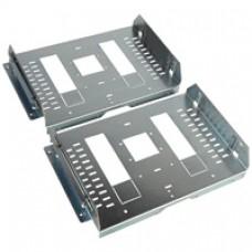 Dipositif de fixation XL3 4000 - 2 DPX 1600 fixe - inverseur source - horiz